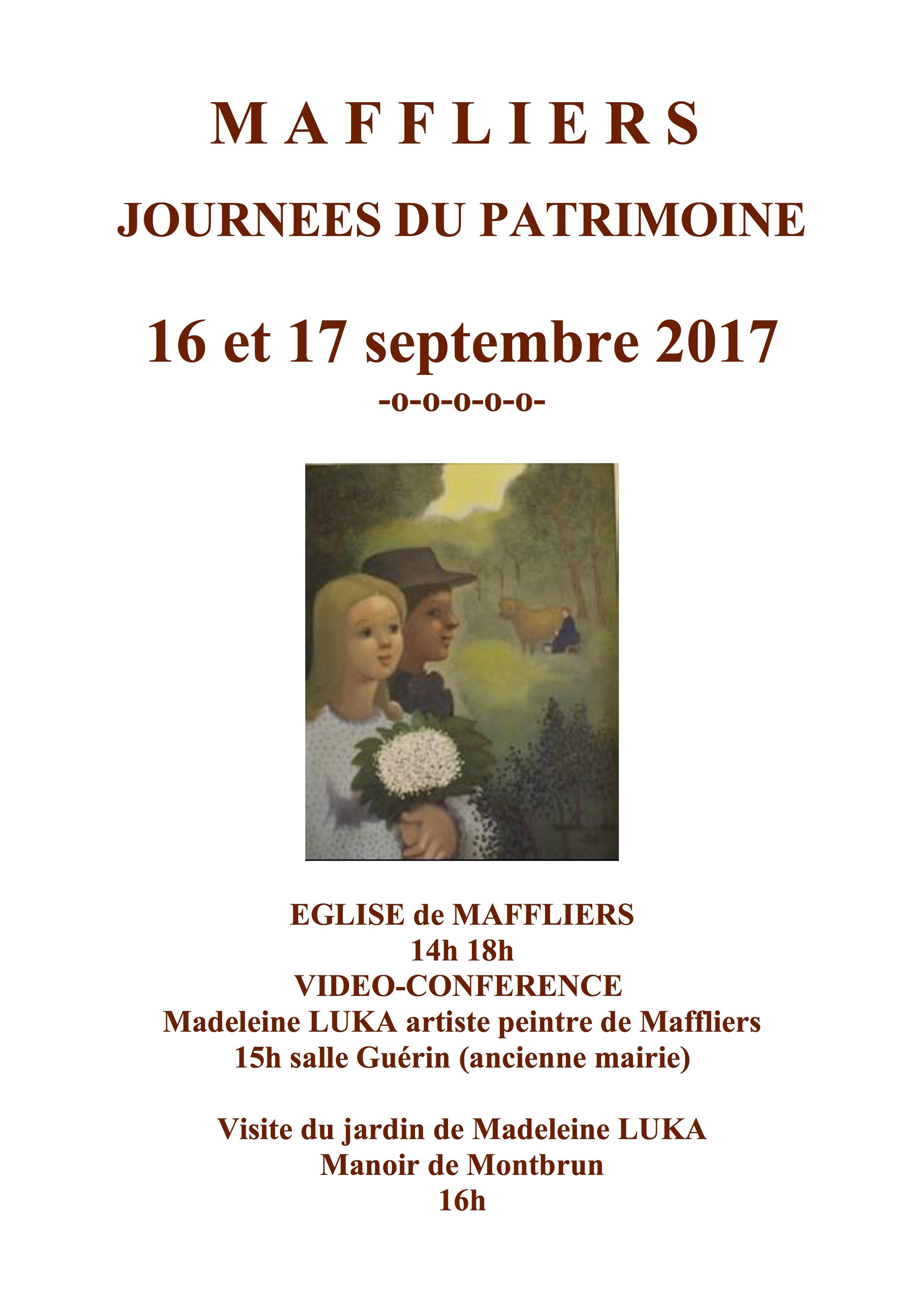 Journées du Patrimoine de Maffliers Carnelle Pays de France