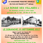 Affiche de la Ronde des Villages de Bellefontaine