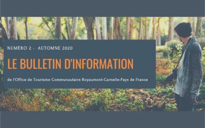 Bulletin d'information de l'Office de Tourisme Communautaire
