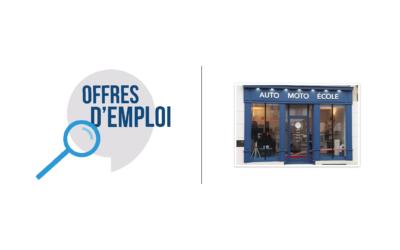 Offre d'emploi : Auto école de Viarmes et Luzarches