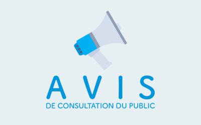 Avis de consultation du public sur le PCAET
